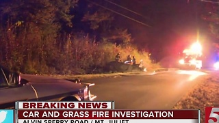 Woman Injured After Car Crashes, Catches Fire - Video