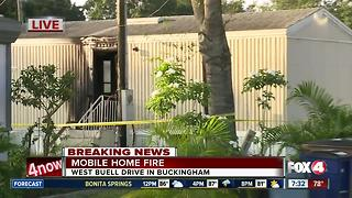 Mobile home fire under investigation in Buckingham - Video