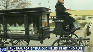 5-year-old girl killed in hit-and-run laid to rest - Video