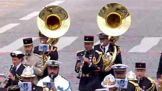 Military Band Plays Daft Punk Medley for Trump and Macron at Bastille Day Event - Video