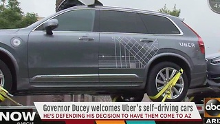 Uber self-driving cars arrive in Arizona - Video