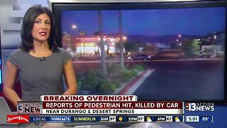 Pedestrian hit, killed by car in NW  Las Vegas - Video