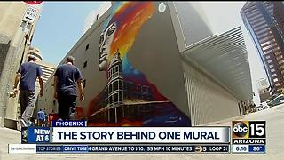 History of downtown Phoenix mural: Woman painted on Renaissance Hotel was real - Video