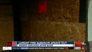 Lamont resident speaks out after apartment burns down - Video
