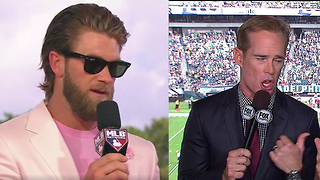 Bryce Harper Shows Up Joe Buck During MLB All-Star Game Commentary - Video