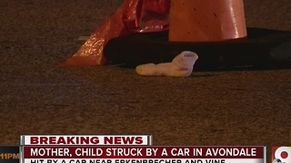 Mother, 3-year-old child struck by car in Avondale - Video