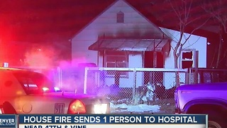 1 hospitalized after Denver house fire - Video
