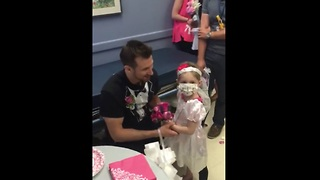 Adorable 4-year-old leukemia patient marries her favorite nurse! - Video