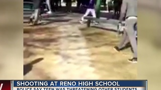 Teen shot by officer at Reno high school allegedly had knife - Video
