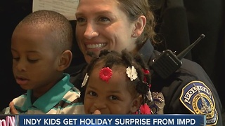 Indy kids get holiday surprise from IMPD - Video