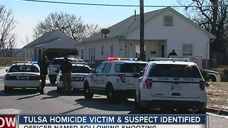 West Tulsa homicide victim identified; Officer involved shooting names released - Video