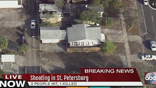 Three shot in St. Petersburg, at least one dead