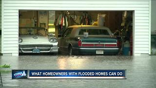 What homeowners with flooded homes can do - Video