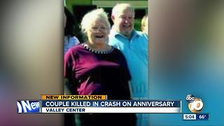 Couple killed in crash on anniversary - Video