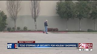 TCSO steps up security for holiday shoppers - Video