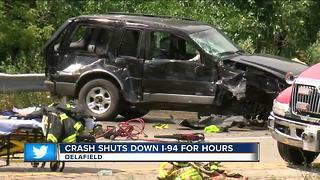 Head-on collision shut down I-94 for hours - Video