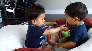 Adorable Baby Twins Bring Double The Trouble - Video