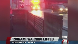 Tsunami warning lifted - Video