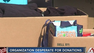 Donations for Kansas City organization low ahead of giveaway to homeless