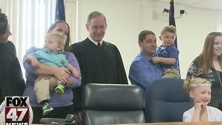 Adoption Day in courtrooms across Michigan - Video