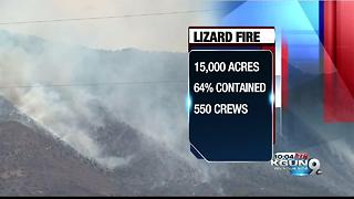 Lizard Fire 15,000 acres, 64 percent containment - Video