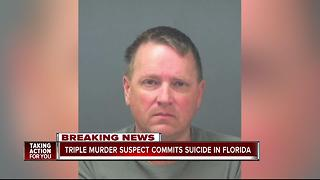 Triple murder suspect commits suicide in Florida - Video