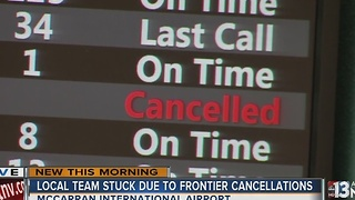 Frontier apologizes as hundreds of passengers remain stranded - Video