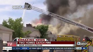 Video of 2 homes on fire on Wednesday - Video