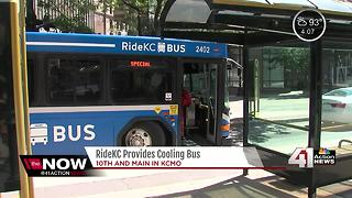 RideKC provides cooling bus - Video