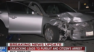 Carjacking leads to pursuit and citizen's arrest - Video