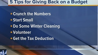 Ask the Expert: 5 tips for giving back on a budget - Video