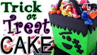 Halloween Frankenstein trick-or-treat bag cake - Video