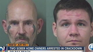 Two sober home owners arrested in crackdown - Video