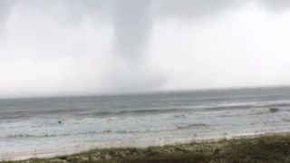 Waterspout Forms Off St. George Island as Tropical Storm Gains Steam in the Gulf - Video