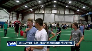 Williamsville students donate money at post-prom party - Video
