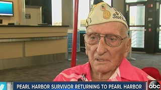 Pearl Harbor survivor and last man alive from the 25th Infantry is returning for the 75th Remembrance - Video