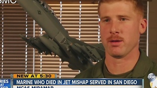 Marine pilot who died in jet mishap served in San Diego - Video