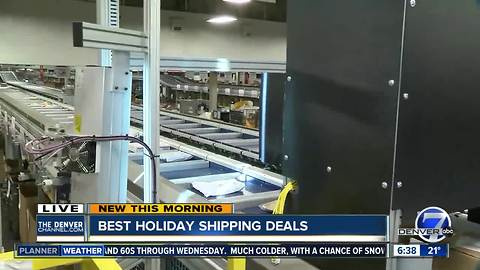 Getting the best holiday shipping deal