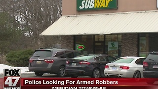 Police looking for Subway robbery suspects - Video