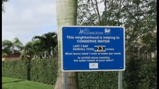 Signs saving thousands of gallons of water - Video