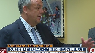 Duke Energy officials update Clermont Co. commissioners on coal ash ponds - Video