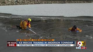Fire department practices ice rescues - Video