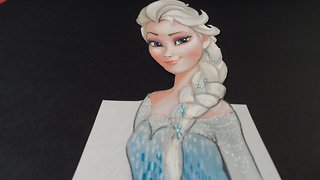 Drawing Elsa from Frozen