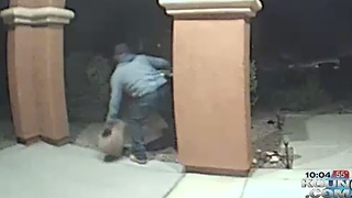 Caught on camera! Thief steals from Rita Ranch yard