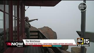 85-year-old still spends his time spotting wildfires after decades on the job - Video