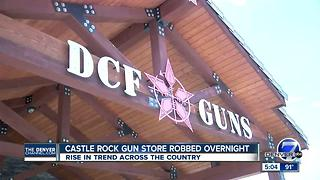 Police: Thieves pull door off Castle Rock gun shop, steal weapons - Video