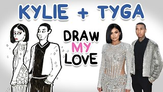 Kylie and Tyga || Draw My Love - Video