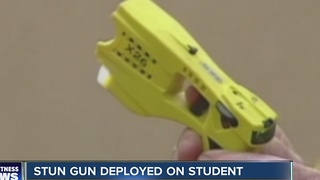Stun gun deployed on student - Video
