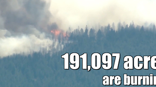Wildfires are burning across 9 states - Video
