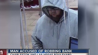 Las Vegas police seek bank robbery suspect - Video